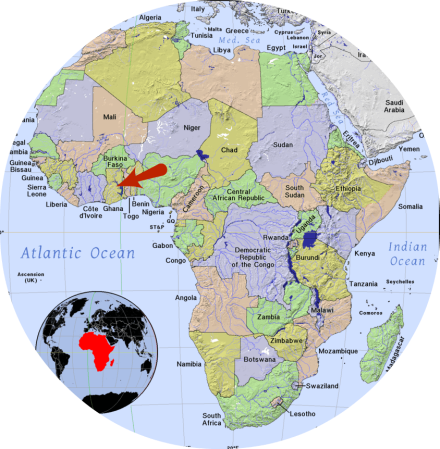 Map of Africa NaomiMcLaughlan